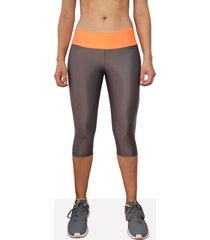 leggings corto deportivo mujer tykhe calipso gris oscuro