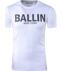 ballin est. 2013 heren t-shirt ronde hals -regular fit wit