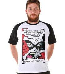 camiseta bandup! bdp clothing harley quinn you re the problem masculina