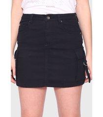 falda ellus negro - calce regular