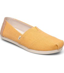 golden yellow eco dyed twill loafers låga skor gul toms