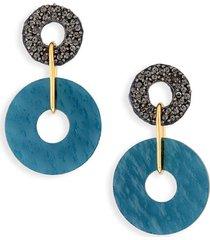women's lizzie fortunato indigo drop earrings