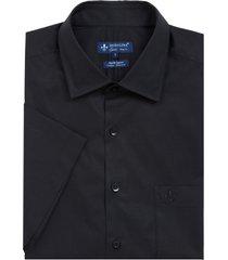 camisa dudalina manga curta fio tinto maquinetado masculina (preto, 7)
