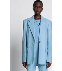 proenza schouler leather blazer sky/blue 8