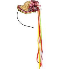 tiara chapéu junino le 8cm unica