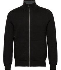 sweater jacket stickad tröja cardigan svart banana republic