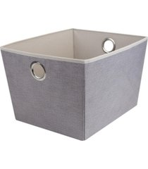 hds trading kensington collection large open storage tote with grommet handles