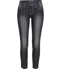 jeans skinny a righe (nero) - rainbow
