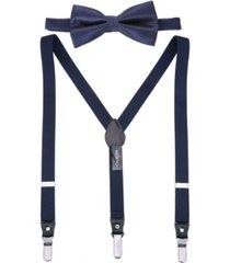 mio marino men's snazzy suspender bow tie set