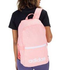mochila adidas linear classic day - rosa claro