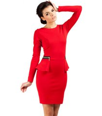 sukienka ołówkowa z baskinką