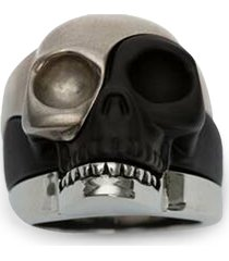 men's alexander mcqueen skull stack ring
