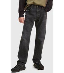 jeans levis 501 '93 straight craisin worn negro - calce regular