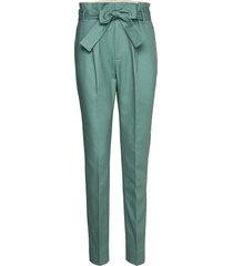trousers pantalon met rechte pijpen groen noa noa