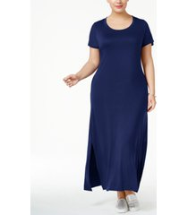 style & co plus size t-shirt maxi dress, created for macy's