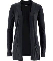 cardigan in maglina elasticizzata (nero) - bpc bonprix collection