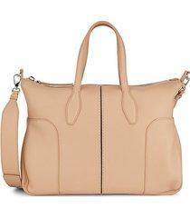 top-zip leather crossbody bag