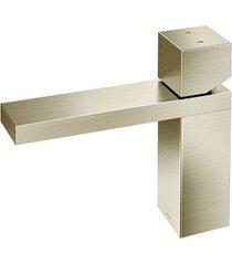 misturador monocomando para banheiro mesa bica baixa mínima níquel escovado - 00919444 - docol - docol