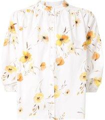 bec + bridge colette floral print shirt - white
