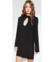 mercury keyhole dress - xs black