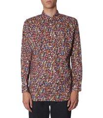 comme des garçons shirt floral print shirt