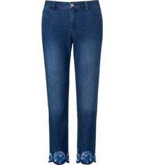 7/8-jeans bloemenborduursel bij de zoom van anna aura denim