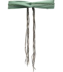 caravana chahal cotton-blend turban - green