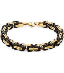 jean claude men's two-tone chain bracelet