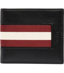 bally bi-fold leather wallet - black