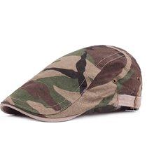 berretto coppola militare regolabile in cotone con camuffamento