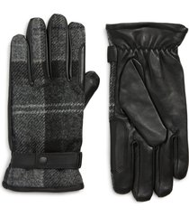 men's barbour newbrough gloves, size large - black