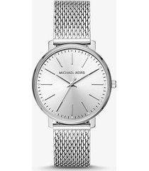 mk orologio pyper tonalità argento con cinturino in mesh - argento (argento) - michael kors