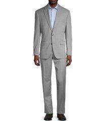 lauren ralph lauren men's regular-fit ultraflex textured suit - grey - size 44 r