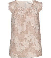 top blouse mouwloos beige rosemunde