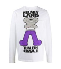 helmut lang camiseta com estampa gráfica - branco