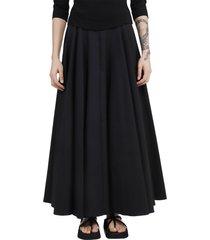 alaia black flared skirt