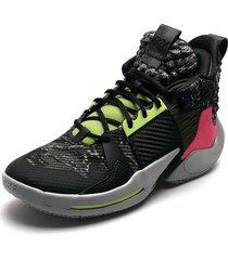 tenis basketball negro-fucsia-verde-gris nike jordan why not zero-2
