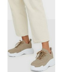 nly shoes perfect chunky sneaker low top light beige