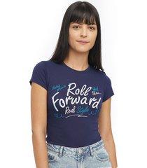 camiseta azul oscuro-blanco facol