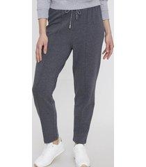 pantalón algodón orgánico gris melange oscuro  - mujer corona