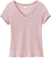 linnen shirt, oudroze 34