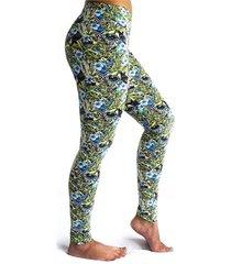 leggings deportivo tobillero estampado mujer verde tykhe gala