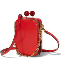the marc jacobs the vanity leather crossbody bag - red