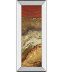 "classy art tierra panel il by patricia pinto mirror framed print wall art - 18"" x 42"""