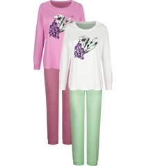 pyjama's per 2 stuks harmony fuchsia::lindegroen::mauve