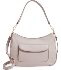 nordstrom finn leather hobo bag - grey