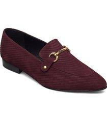 biabrenda suede loafer loafers låga skor röd bianco