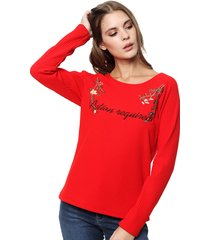 sweater rojo bonna nicola