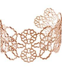 bracciale bangle medium in ottone rosato e zirconi per donna