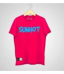 """camiseta sunhot """"dripping neon"""" - masculino"""